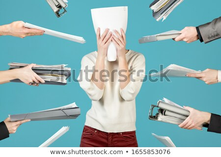 Frustrated office manager overloaded with work. Stock photo © lichtmeister