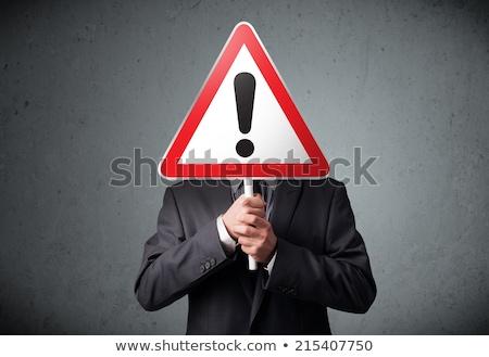 男 感嘆符 その他 危険 ストックフォト © lichtmeister
