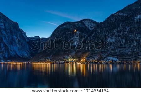 表示 アルプス山脈 山 オーストリア 曇った 天気 ストックフォト © borisb17