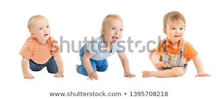 baby boy portrait over a isolated white background Stock photo © Lopolo