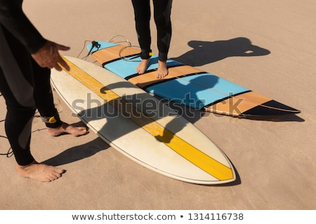 Basso sezione senior surfer Coppia piedi Foto d'archivio © wavebreak_media