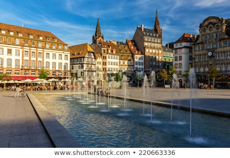 Cathedral square, Strasbourg Stock photo © borisb17