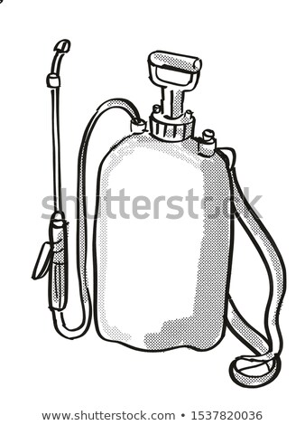 Garden Pressure Sprayer Cartoon Retro Drawing Stock photo © patrimonio