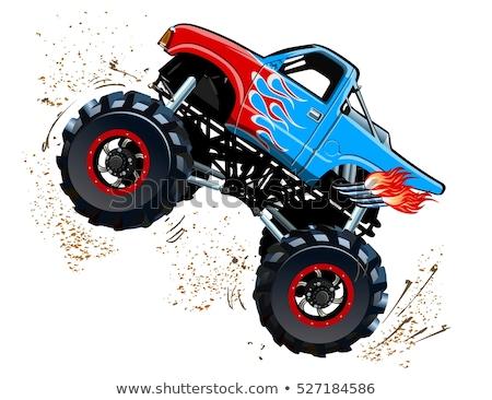 Desenho animado monstro caminhão eps8 grupos fácil Foto stock © mechanik