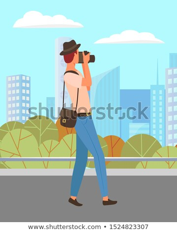 Photographer Shooting Landscape in Urban Park Stock photo © robuart