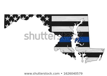 Maryland policji wsparcia banderą ilustracja Zdjęcia stock © enterlinedesign