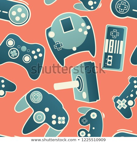 Interactieve kinderen video games gamepad vector icon Stockfoto © pikepicture