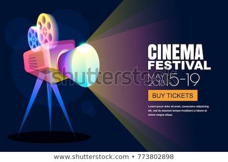 cinema movie film festival poster design background Stock photo © SArts