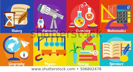 Geography and Astronomy Subjects in School Web Stock photo © robuart
