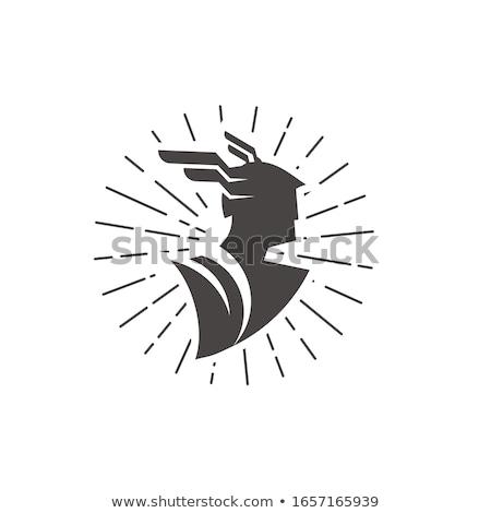 white silhouette of god of Mercury Stock photo © mayboro