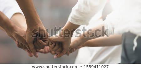 Wolontariusze pomoc pracy serca ręce niewidomych Zdjęcia stock © yupiramos