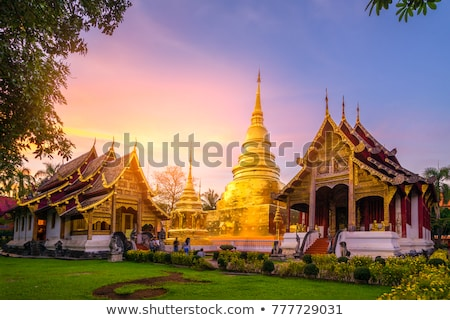 Or buddha architecture asian statue personne Photo stock © dmitry_rukhlenko