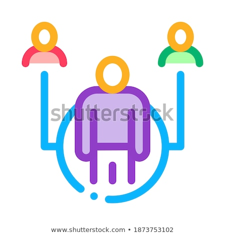 Corredor de bienes raíces representante icono vector ilustración Foto stock © pikepicture
