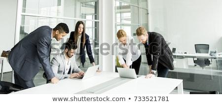 Działalności korporacyjnych zespołu burza mózgów planowania strategii Zdjęcia stock © snowing