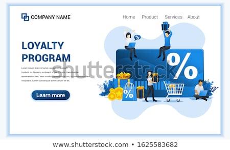 Zniżka lojalność lądowanie strona karty procent Zdjęcia stock © RAStudio