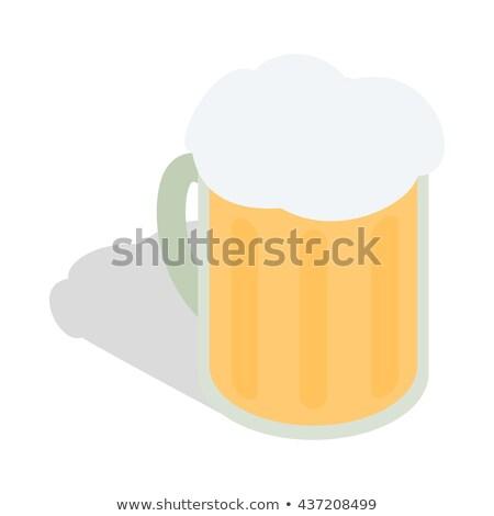泡立つ ビール カップ アイソメトリック アイコン ベクトル ストックフォト © pikepicture