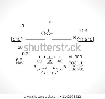 lutteur · jet · tête · vieux · avion - photo stock © swatchandsoda