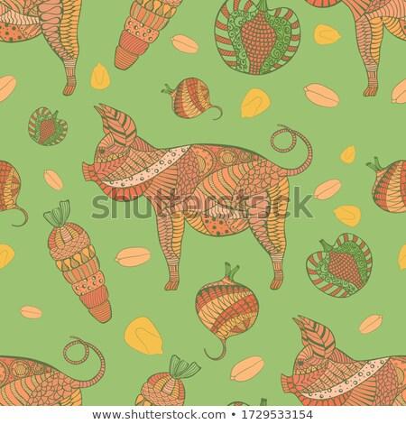 wieprzowych · obraz · tablicy · orzechy · warzyw · kaganiec - zdjęcia stock © pressmaster