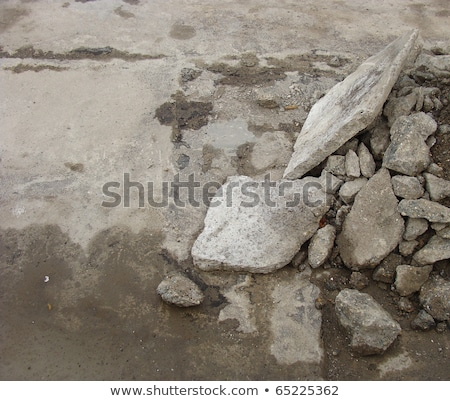 stack of stone rubble from public works seen from top            Stock photo © Melvin07