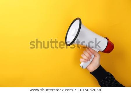 Speaker Megaphone Stock photo © hlehnerer