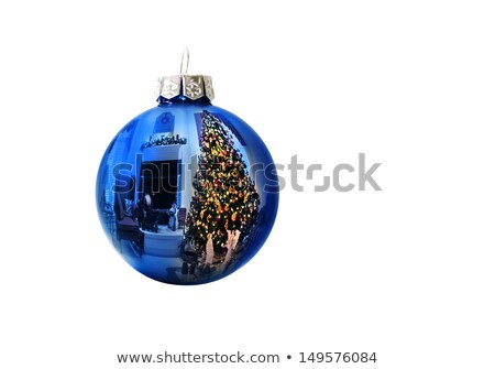 Brightly Lit Christmas Tree Reflection Stock photo © ca2hill