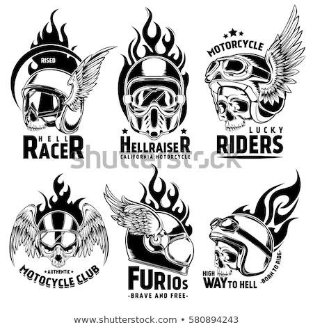 ardiente · motocicleta · ilustración · ardor · fuego · diseno - foto stock © -Baks-