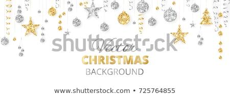 silver ribbon serpentine on a white background Stock photo © inxti