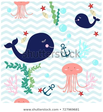 tenger · váz · keret · fantázia · arany · halfajok - stock fotó © galyna