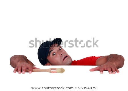 craftsman painter slipping and falling down stock photo © photography33