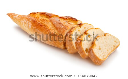 Uzun somun yalıtılmış beyaz fransız ekmeği uzay Stok fotoğraf © papa1266