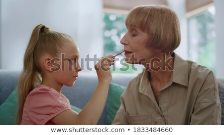 mulher · jovem · make-up · idoso · senhora · mulher - foto stock © photography33