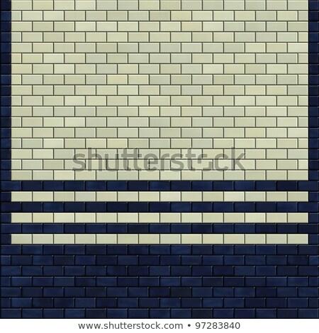 3dのレンダリング 青 アイボリー 白 タイル パターン ストックフォト © Melvin07