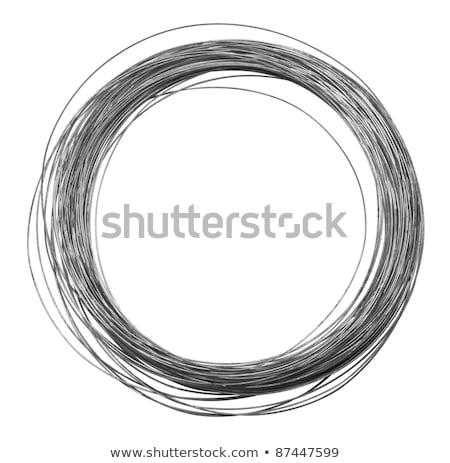 Silver Wire Roll Photo stock © PRILL