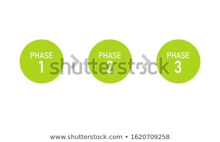 een · twee · vector · vooruitgang · papier · product - stockfoto © orson