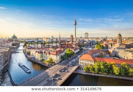 Берлин свет полюс Blue Sky здании пространстве Сток-фото © rbouwman