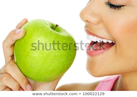 brunette woman biting apple stock photo © photography33