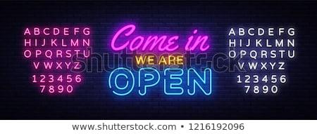 Neon Open Sign Stock photo © piedmontphoto