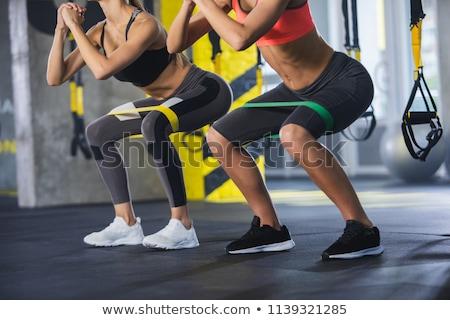 Sesión mujer látex ropa moda Foto stock © phbcz