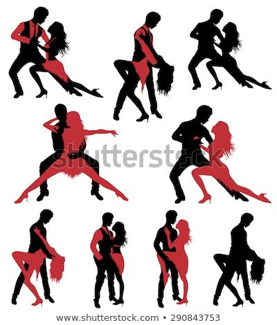 Сальса танцоры набор женщину Dance Сток-фото © Kaludov