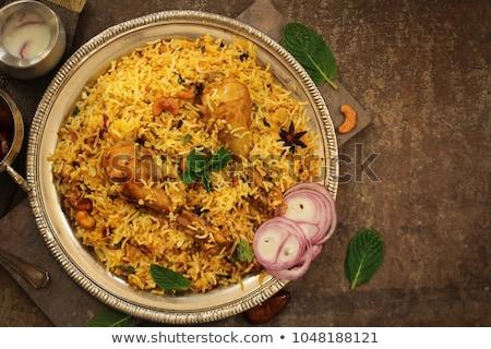 Chicken-Biryani Stock photo © stoonn