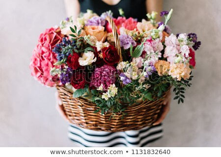 florist holding basket of flowers stock photo © photography33