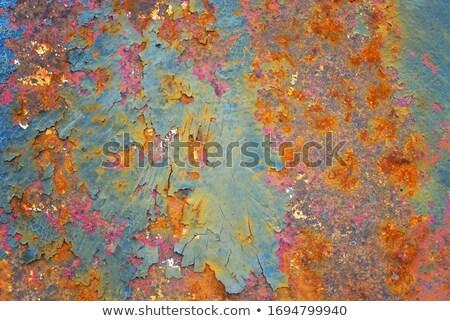 chipped green paint rusty metal Stock photo © sirylok