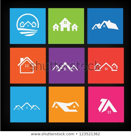 icon of two houses as symbol of real estate stock photo © loopall