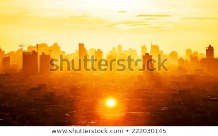 Atenas · madrugada · ver · pôr · do · sol · céu · nuvens - foto stock © sirylok