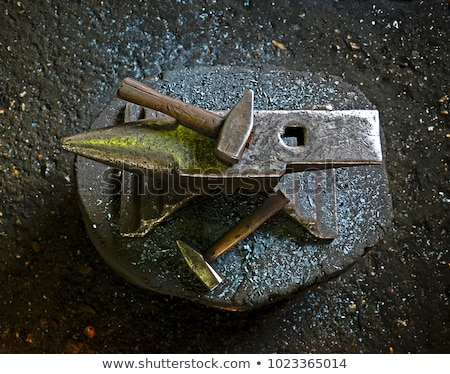 blacksmith's anvil and hammer Stock photo © mayboro