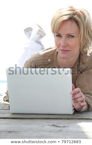 laptop · bateria · isolado · branco · computador · caderno - foto stock © photography33