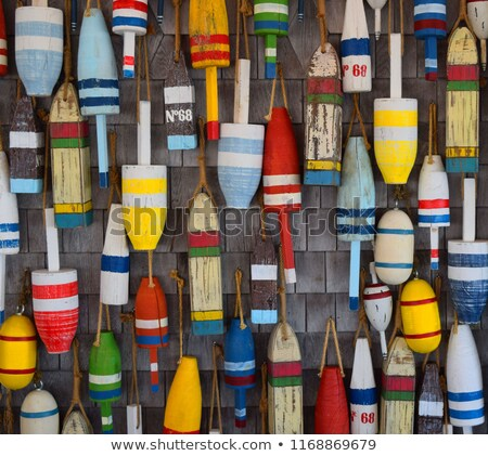 Colgante boya grupo edad pared marina Foto stock © sumners