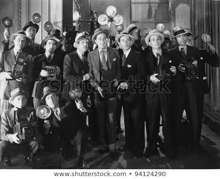 Retro paparazzi foto 1940 stijl fotograaf Stockfoto © sumners