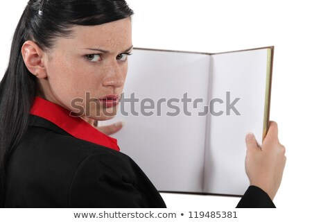 annoyed businesswoman with a blank book stock photo © photography33