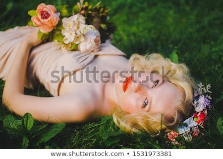 Stok fotoğraf: Gelin · beyaz · gelinlik · romantik · model · yalıtılmış